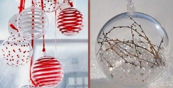 Boule De Noel Transparente A Remplir Comment décorer et garnir des boules de Noël transparentes, des