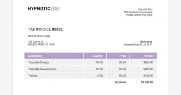i call this xero invoice template bold blue. | xero templates, Invoice examples