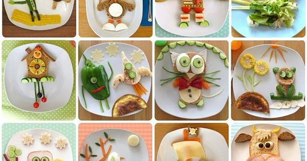 Creative Breakfasts, Lunches and snacks for Kids! Too cute!