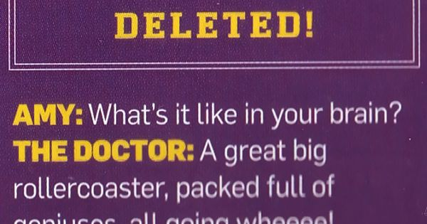 Doctor Who - Inside The Doctor's brain. doctorwho scifi sciencefiction