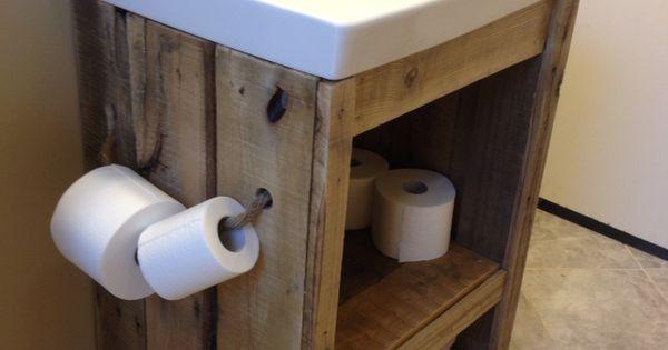 Pallet wood bathroom vanity sink bathroom ideas for Pallet sink vanity