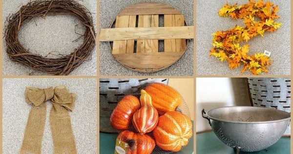 Couronne d'automne DIY – une idée de bricolage rapide  Deco, DIY ...
