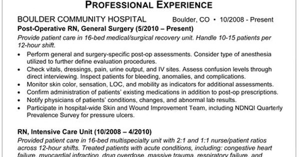 med surg rn resume sample resume for postop nurse im
