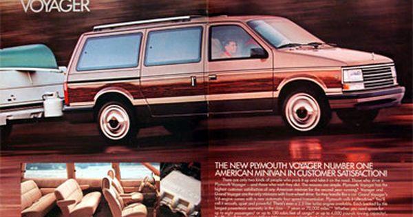1989 Plymouth Voyager Minivan Classic Vintage Print Ad Plymouth Voyager Mini Van Plymouth