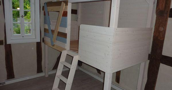 ein baumhaus im kinderzimmer dieses bett steht in einem. Black Bedroom Furniture Sets. Home Design Ideas