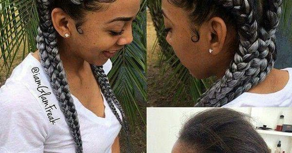 Gray Cornrows Jus Love Ghana