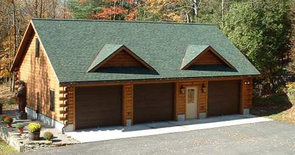 Log home garages log garages as we do in our log homes for Log cabin style garages