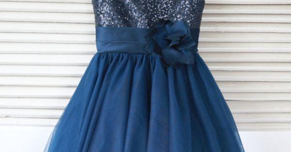 Silver/Pink/Navy Blue/Blush/White Sequin Tulle Flower Girl Dress Toddler/ Baby Girl Dress for