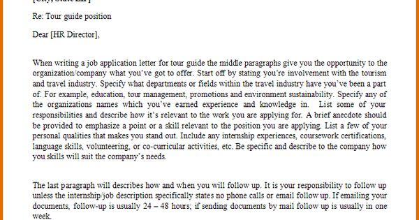 samples application letterb letter sample for tour job pdf - hr director job description