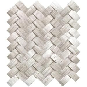 Msi Mystic Cloud Arched Herringbone 12 In X 12 In X 10mm Honed Marble Mesh Mounted Mosaic Tile 10 Sq Ft Case Arch Mc Hbh Herringbone Mosaic Tile Mosaic Wall Tiles Fireplace Tile