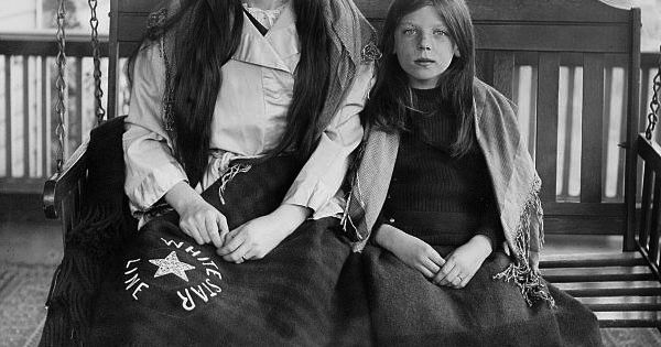 Titanic Survivors Charlotte Collyer and her 8-year-old daughter Marjorie after they finally
