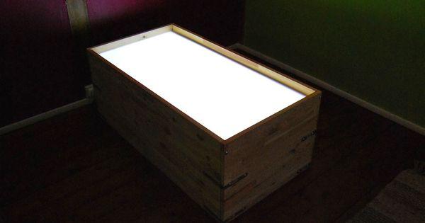 Merci qui merci montessori table lumineuse un - Boite lumineuse ikea ...