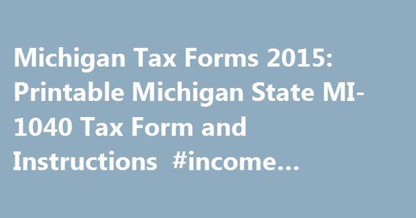 Michigan Tax Forms  Printable Michigan State Mi Tax Form