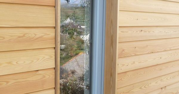 Window In Larch Clad Wall House Colour Pinterest