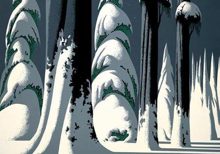 Eyvind Earle environments. Favorite artist.