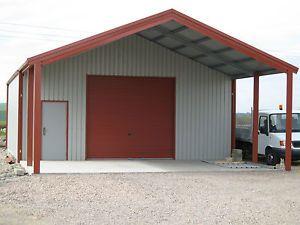 Grampian Steel Buildings Double Garage Workshop Steel Building Metal Buildings Metal Shop Building Metal Building Homes