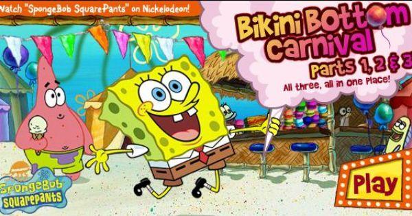 Spongebob Carnival Game Online With Images Spongebob Online