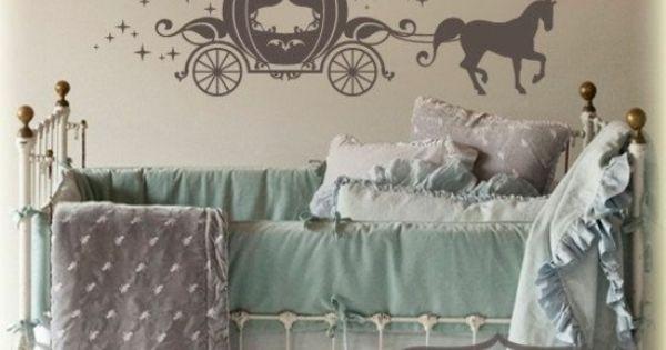 d coration int rieure chambre b b enfant nursery fille lit berceau fer forg barreaux. Black Bedroom Furniture Sets. Home Design Ideas