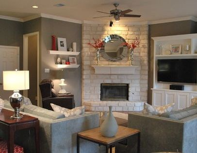 Corner Fireplace Layouts On Pinterest Corner Fireplaces Furniture Placement Living Room Small Living Room Furniture Livingroom Layout