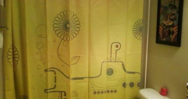 Amazon Com Kikkerland Yellow Submarine Shower Curtain I Need
