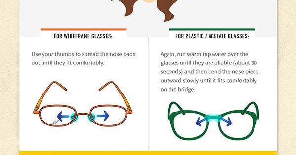 How to adjust your glasses - Zenni Optical Infographic ...