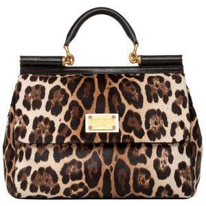 Dolce Gabbana Leopard Pony Skin Miss