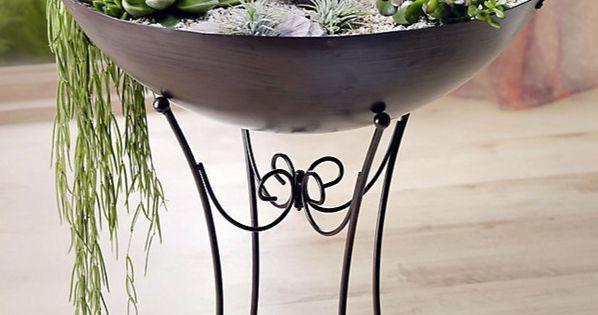 details zu pflanzschale mit st nder deko schale pflanzen garten ornamente nostalgie neu. Black Bedroom Furniture Sets. Home Design Ideas
