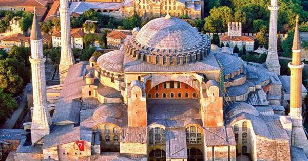 Hagia Sophia - Istanbul. Not a cathedral, in fact a Mosque. But