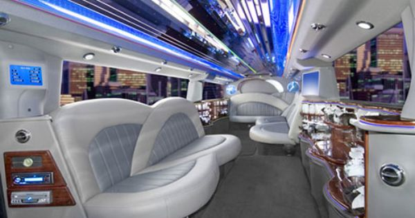 Offers Stretch Hummers And Limousines In Black Or White Covering The Metro Airport Area Limousine Car Bus Interior Hummer Limo
