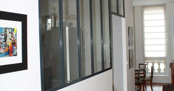 Verriere entre entree et cuisine recherche google hall for Cloison vitree industrielle
