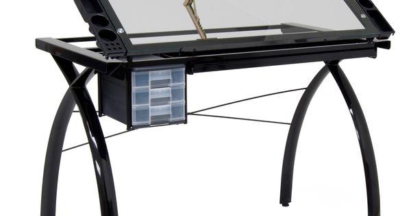 Studio Designs BlackClear Glass Futura Craft Station