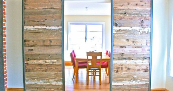 Reclaimed barn door on living room design home design interior decorating home