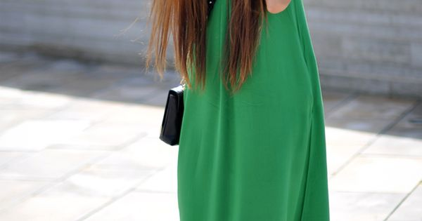 Maxi dress + ombre hair