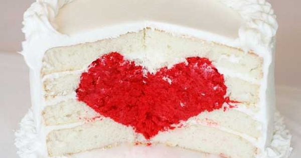 Heart Cake Tutorial I wonder if you can make the inside red