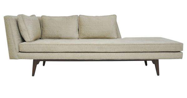 Dunbar chaise lounge by edward wormley huiskamer voor het huis en meubels - Deco lounge huis schilderen ...