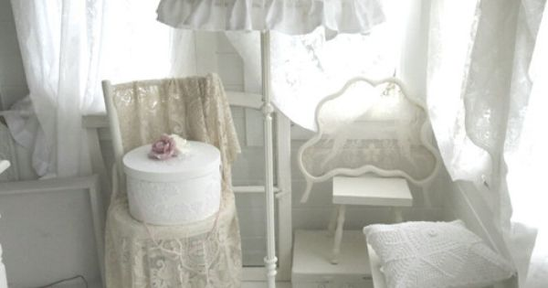 shabby chic stehlampe von weidenr schen auf dawanda. Black Bedroom Furniture Sets. Home Design Ideas