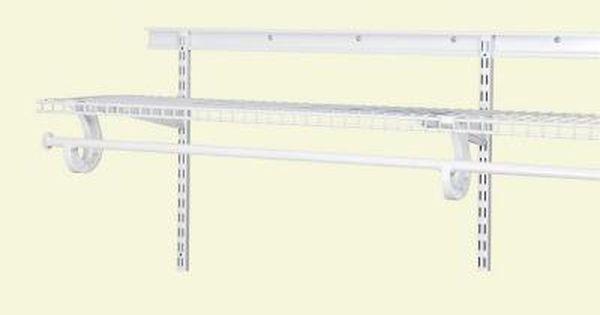 Closetmaid Superslide 3 7 8 In White Closet Rod Support Bracket