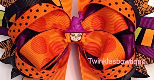I LOVE this hair bow for Halloween! For little girls and BIG