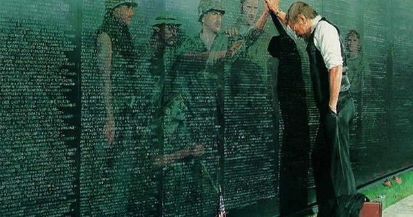 Vietnam War Memorial. A very solemn place to be. It was heart