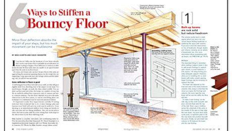 6 Ways To Stiffen A Bouncy Floor Flooring Building A House Diy Flooring