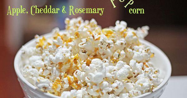 Apple, Cheddar & Rosemary Popcorn from jemangelaville.com | Dish ...