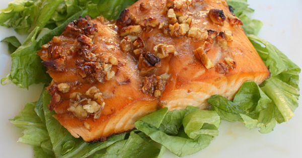 Honey Pecan Glazed Salmon recipe from Weight Watchers.