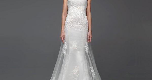 Dream dress. Elegant Sleeveless with Dropped waist cathedral train wedding dress