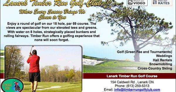 Lanark Timber Run Golf Course 154 Caldwell Rd Lanark On Perth Ontario Pinterest Golf