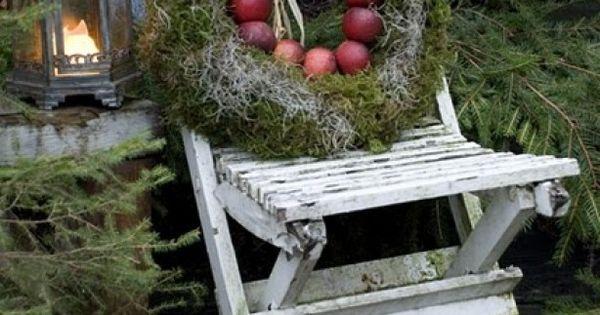 Kerst versiering buiten deco seizoenen pinterest wreaths and xmas - Deco kleine tuin buiten ...