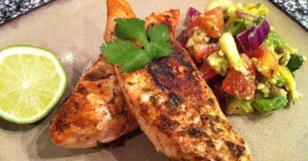 Chili-Lime Rubbed Chicken with Avocado-Feta Salsa | Powder ...