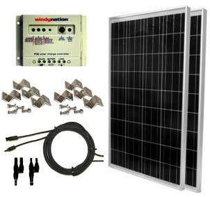 Windy Nation Solar Kit 100 Watt Solar Panel Solar Panel Kits
