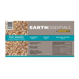 Earthessentials By Quikrete 0 5 Cu Ft Pea Gravel Landscaping