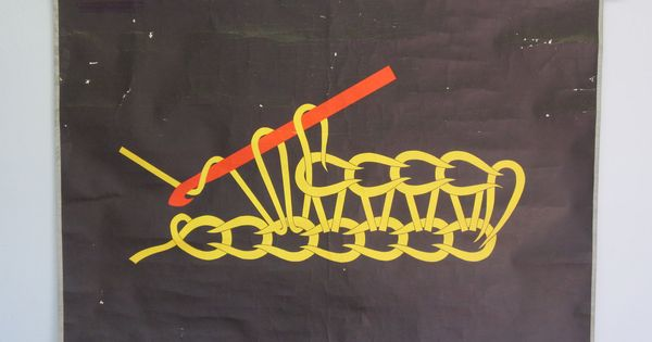 Vintage school charts illustrating crochet techniques ... so cool - when I