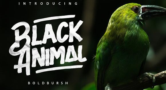 Black Animal is handmade brush style font . Very cool for logos, name tag, handwritten quotes